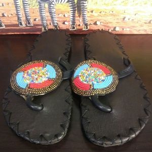 Women's Leather Sandles Size 7